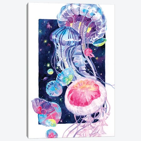 Jellyfish Canvas Print #PLP42} by Penelopeloveprints Art Print