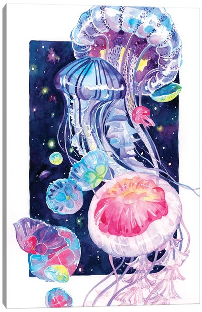 Jellyfish by Penelopeloveprints Canvas Art Print