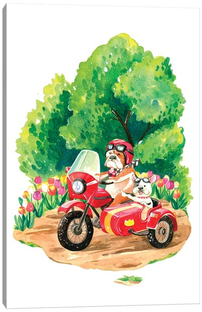 Spring Road Trip Canvas Art Print