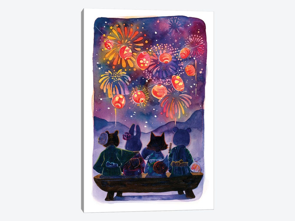 Summer Festival by Penelopeloveprints 1-piece Canvas Art Print