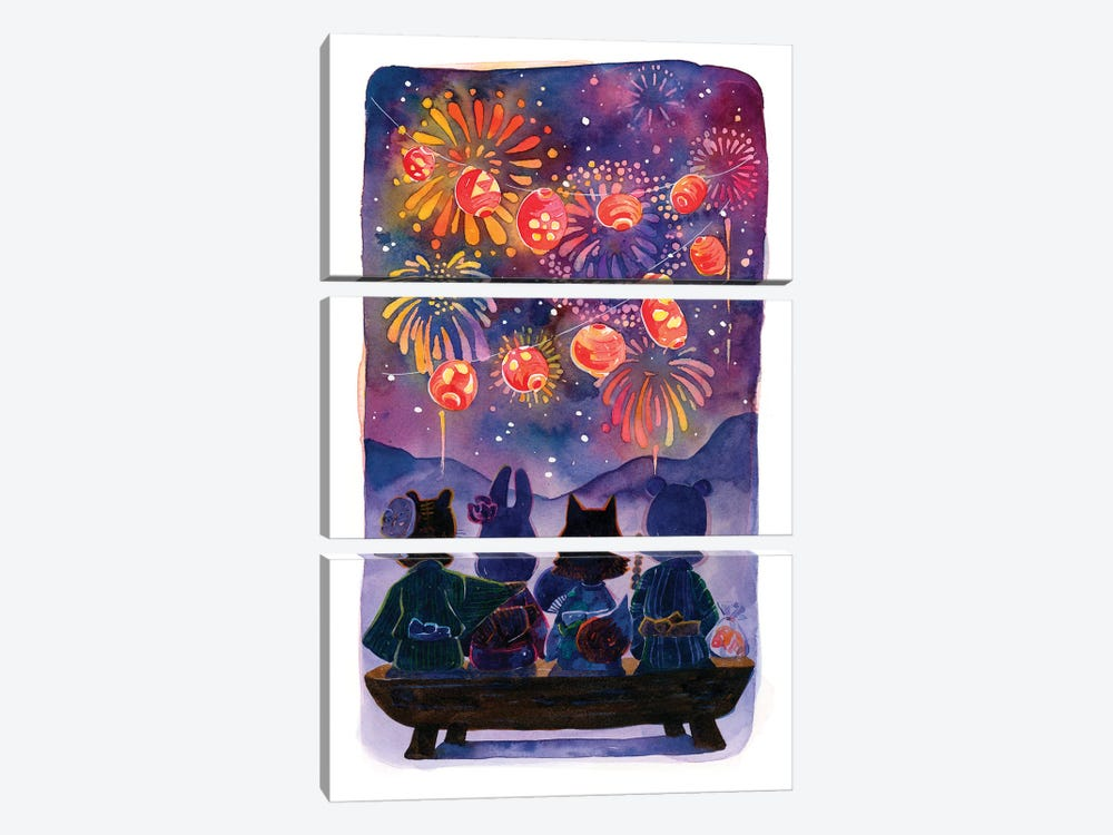 Summer Festival by Penelopeloveprints 3-piece Canvas Print