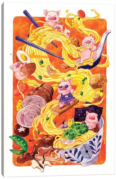 Tonkatsu Ramen Canvas Art Print
