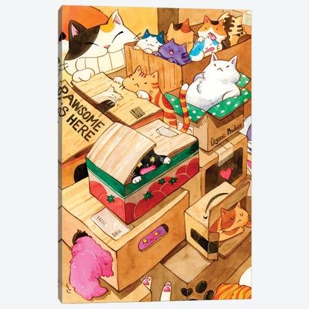 Cat Heaven Canvas Print #PLP48} by Penelopeloveprints Canvas Art Print