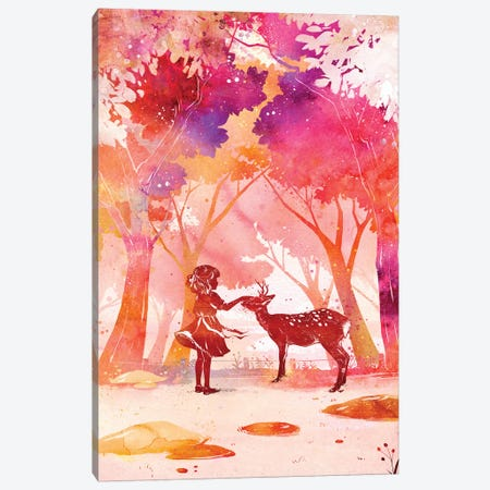 Deer Park Canvas Print #PLP4} by Penelopeloveprints Canvas Art