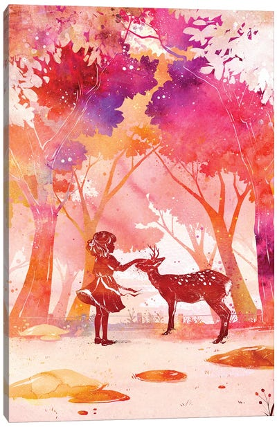 Deer Park by Penelopeloveprints Canvas Art Print