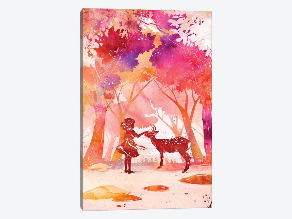 Deer Park by Penelopeloveprints 1-piece Canvas Art Print