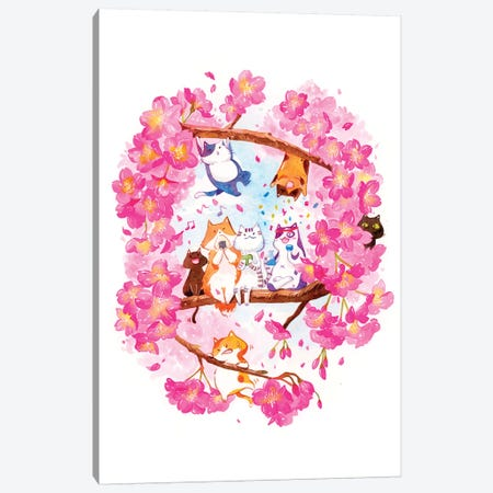 Spring Hanami Canvas Print #PLP53} by Penelopeloveprints Canvas Wall Art