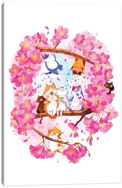 Spring Hanami Canvas Art Print