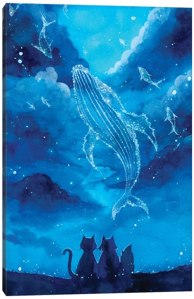 Star Gazing by Penelopeloveprints Canvas Art Print