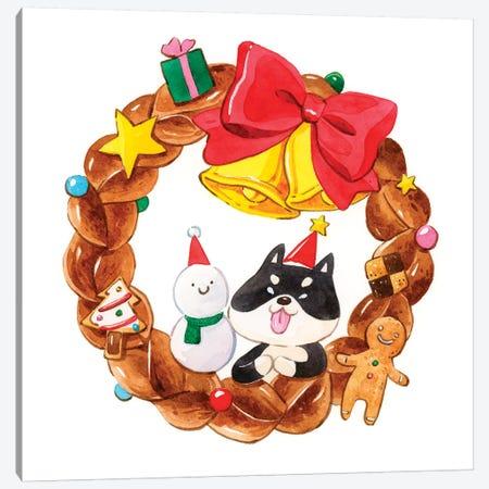 Happy Holidays 3-Piece Canvas #PLP57} by Penelopeloveprints Canvas Art Print