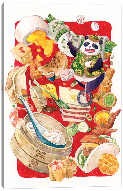Dim Sum Circus by Penelopeloveprints Canvas Art Print
