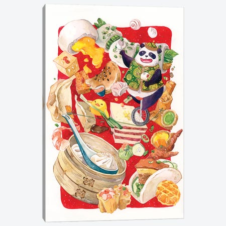 Dim Sum Circus 3-Piece Canvas #PLP5} by Penelopeloveprints Canvas Artwork