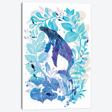 Humperback Whale Galaxy 3-Piece Canvas #PLP8} by Penelopeloveprints Canvas Art Print