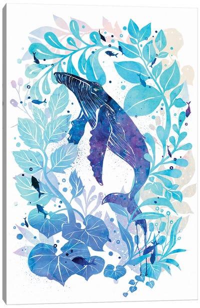 Humperback Whale Galaxy Canvas Art Print