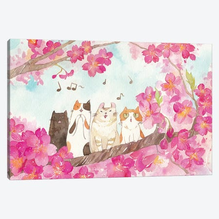 La Cat Ensemble Canvas Print #PLP9} by Penelopeloveprints Canvas Print