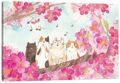 La Cat Ensemble by Penelopeloveprints Canvas Art Print