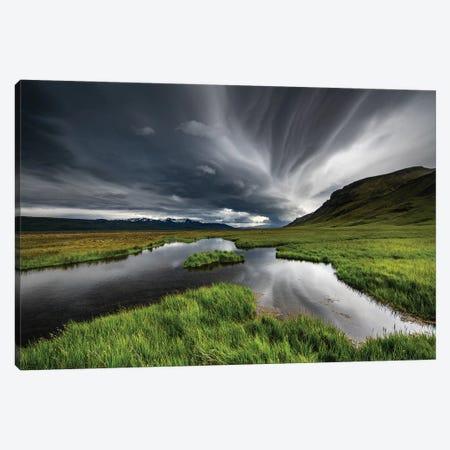 Stormy Iceland Lake Canvas Print #PLS11} by Marc Pelissier Canvas Print