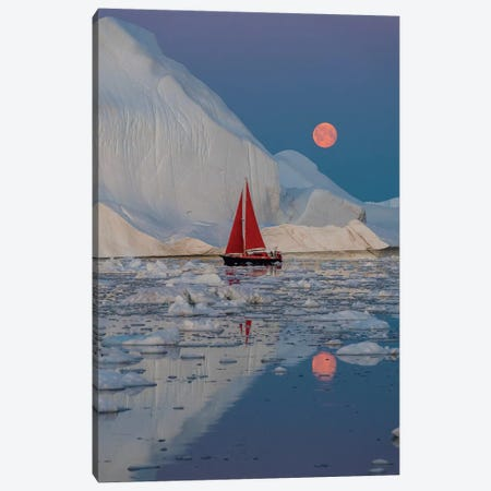 Greenland Night Canvas Print #PLS2} by Marc Pelissier Canvas Art
