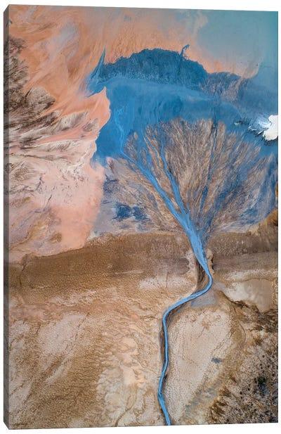The Blue Tree Canvas Art Print