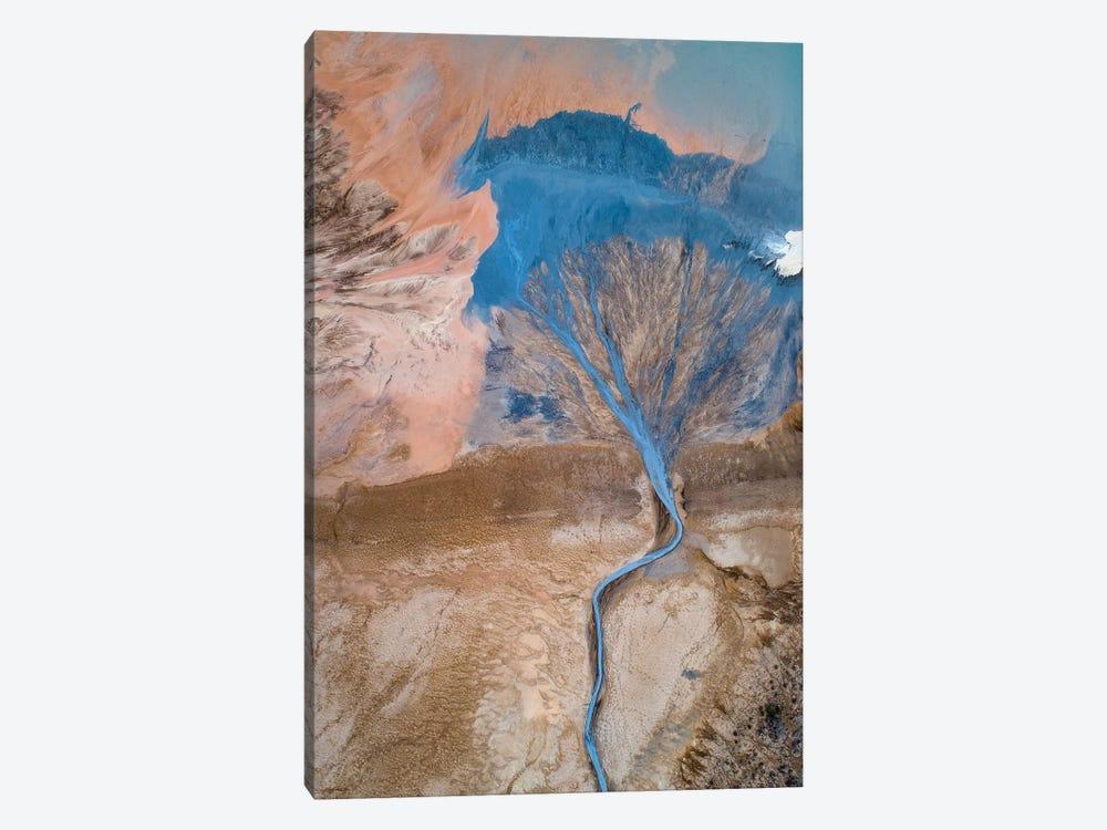 The Blue Tree by Marc Pelissier 1-piece Art Print
