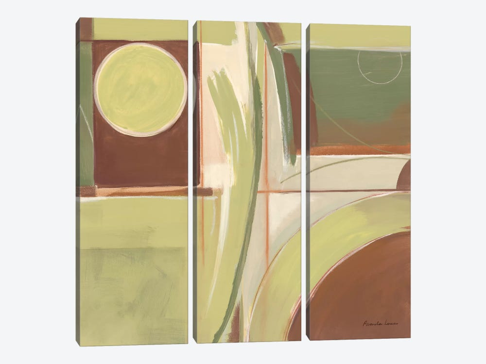 Fields of Green I by Pamela Luer 3-piece Canvas Art Print