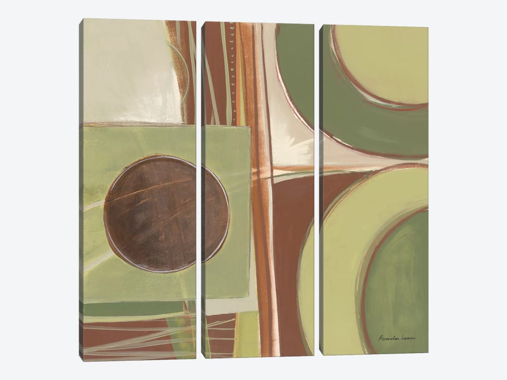 Fields of Green II by Pamela Luer 3-piece Canvas Art