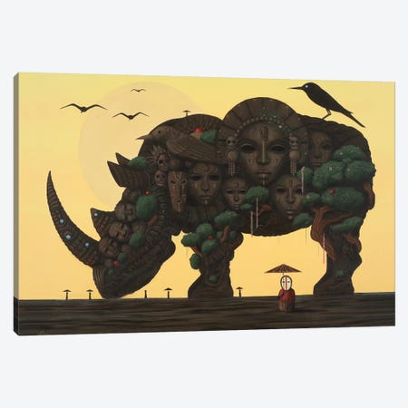 Home Canvas Print #PLW12} by Paul Lewin Canvas Print
