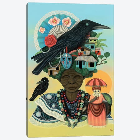 Mother of Crows Canvas Print #PLW20} by Paul Lewin Canvas Artwork