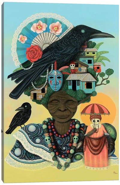 Mother of Crows Canvas Art Print