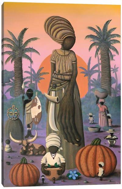Nanny and the Pumpkin Seeds Canvas Art Print
