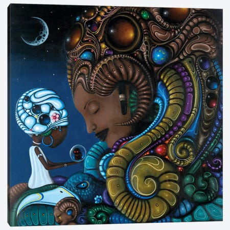 Neru Canvas Print #PLW22} by Paul Lewin Canvas Artwork