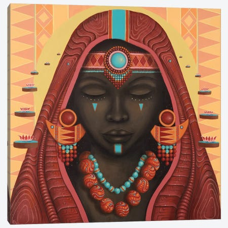 Shani Canvas Print #PLW34} by Paul Lewin Canvas Artwork