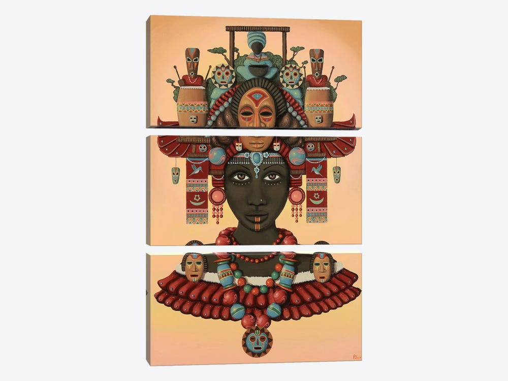 Temple of the Wooden Mask by Paul Lewin 3-piece Art Print