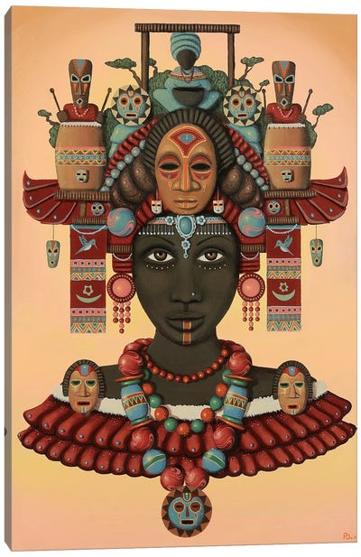 Temple of the Wooden Mask Canvas Art Print
