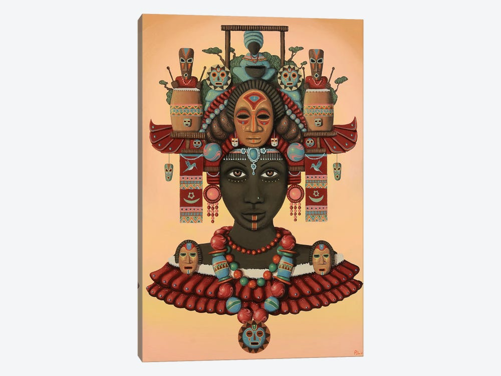 Temple of the Wooden Mask by Paul Lewin 1-piece Canvas Art Print