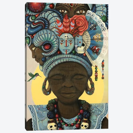 Ancestral Headwrap Canvas Print #PLW3} by Paul Lewin Canvas Art