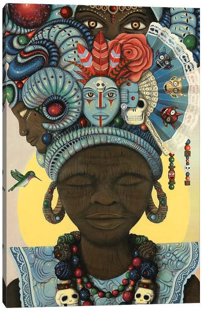 Ancestral Headwrap Canvas Art Print