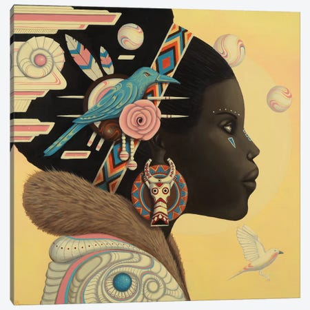 Zuri Canvas Print #PLW43} by Paul Lewin Canvas Artwork