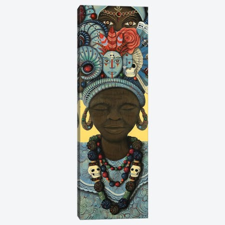 Ancestral Headwrap II Canvas Print #PLW45} by Paul Lewin Canvas Art Print