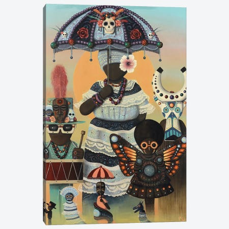 Carnival Day Canvas Print #PLW6} by Paul Lewin Canvas Art Print