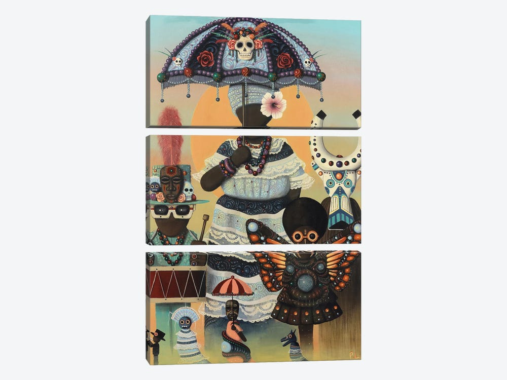Carnival Day by Paul Lewin 3-piece Canvas Art