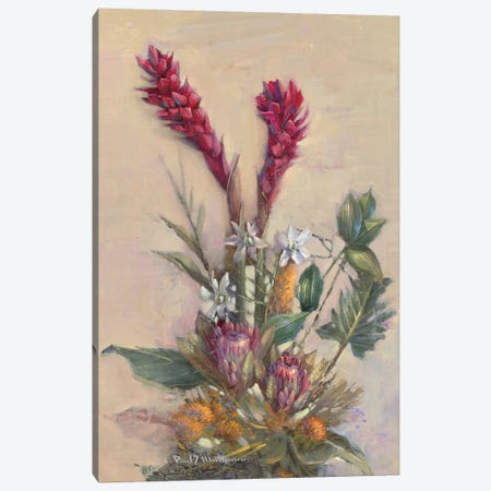 Tropical Floral Canvas Print #PMA1} by Paul Mathenia Canvas Artwork