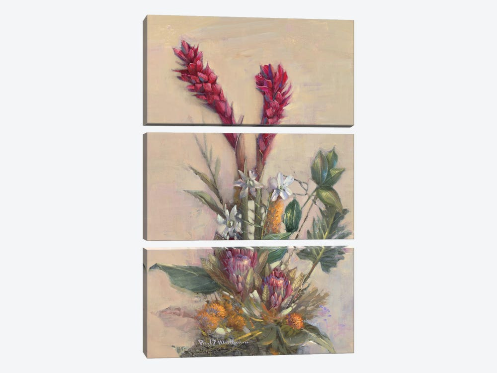 Tropical Floral by Paul Mathenia 3-piece Canvas Wall Art