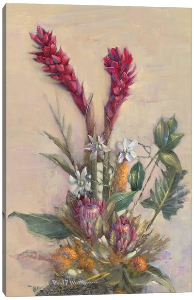 Tropical Floral Canvas Art Print