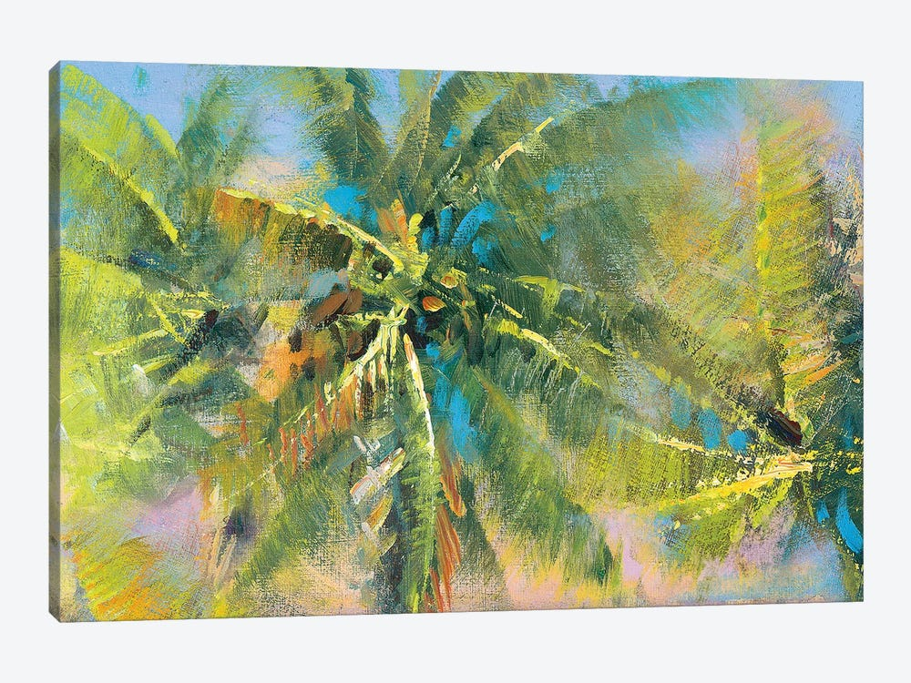 Palm Collage by Paul Mathenia 1-piece Canvas Artwork