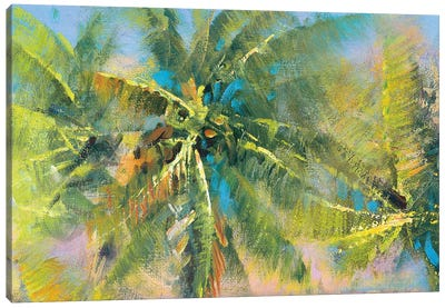 Palm Collage Canvas Art Print