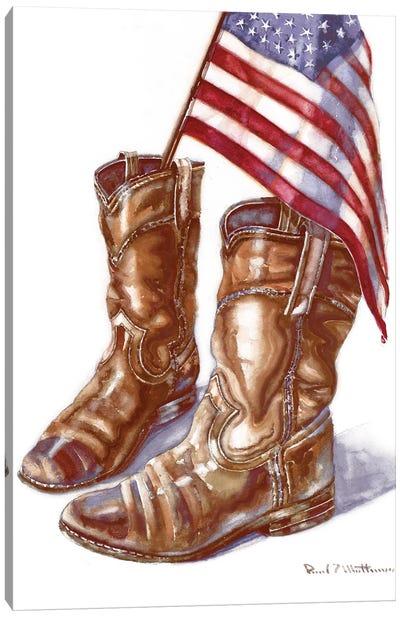Cowboy Boots I Canvas Art Print