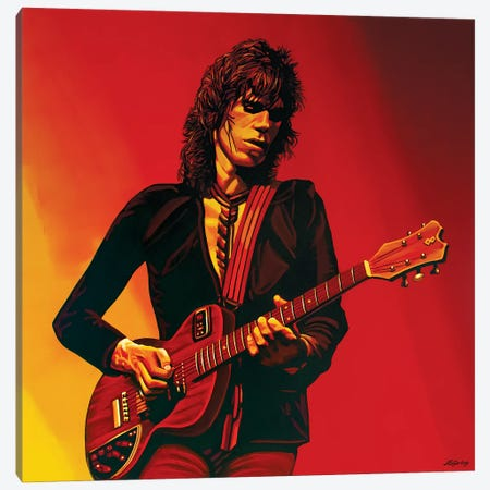 Keith Richards III Canvas Print #PME100} by Paul Meijering Canvas Art