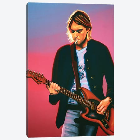 Kurt Cobain II Canvas Print #PME102} by Paul Meijering Canvas Wall Art