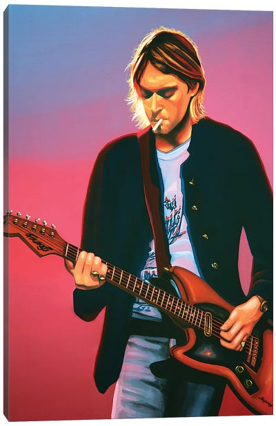Kurt Cobain II Canvas Art Print